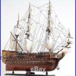 Model Ship St Espirit Boats Sailing Wood Base Wooden Western Red Cedar LI