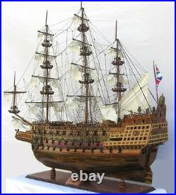 Model Ship Traditional Antique Hms Sovereign Of The Seas Monumental Ros