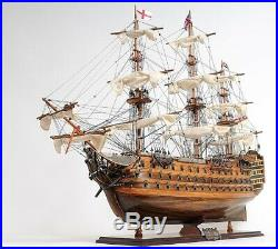 Model Ship Traditional Antique Hms Victory Boats Sailing Wooden Wood Base