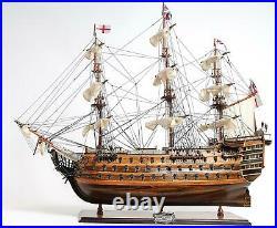 Model Ship Traditional Antique Hms Victory Medium Brass Nameplate Metal