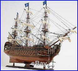 Model Ship Traditional Antique Royal Louis Boats Sailing Mahogany Rosewoo