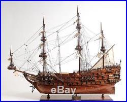 Model Ship Zeven Provincien Boats Sailing Exotic Wood Base New Om-215