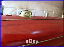 Monturiol Ictineo II Steam Power Submarine Wood Half Model 28 Long Scale Model