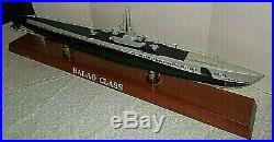Motion Models Balao Class USS WWII Submarine wood 39 Long display Boat Ship