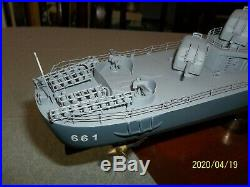 Motion Models USS DD-661 Fletcher Class Destroyer Kidd display Boat Ship WWII
