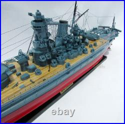 Musashi Japanese Battleship 47 Handcrafted Ship Model
