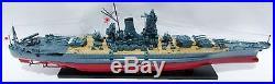 Musashi Japanese Navy Battleship Model 47 Built Wooden Model Ship NEW