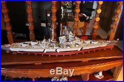 Museum Replica Battleship Bismarck by Fine Art Models Builders of Titanic