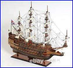 Museum-quality FULLY ASSEMBLED replica of H. M. S. Sovereign of the Seas SHIP