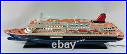 NIPPON MARU OCEAN LINER WITH LIGHTS 32 Handcrafted Wooden Model NEW