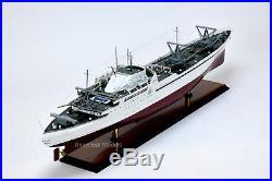 NS Savannah Nuclear-Powered Merchant Ship Handmade Wooden Ship Model 37.5