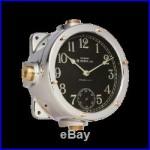 Navy Polished Aluminum Master Clock Marine Nautical Industrial