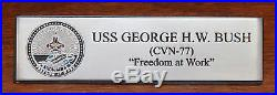 Navy USS George H. W. Bush CVN-77 Desk Display 1/700 Aircraft Carrier Ship Model