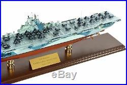 Navy USS Yorktown CV-10 Desk Display 1/350 WW2 Aircraft Carrier Ship ES Model