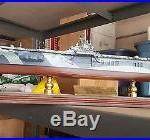 Navy USS Yorktown CV-10 Desk Top Display 1/350 WW2 Aircraft Carrier Ship Model #