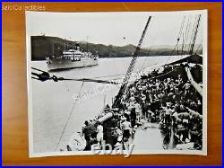 OFFICIAL US Navy 1920's Panama Canal Army Transport Scene Marine Photo 8x10