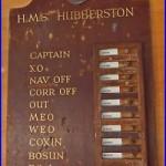 ON-DUTY BOARD H. M. S. HUMBERSTON M1147 1 Ton MINE HUNTER SWEEPER Cold WAR Era