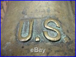 Old Original U. S. United States Navy Brass Retired Nautical Ships Boat Bell