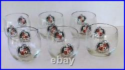 Operation Deep Freeze Task Force 43 Roly Poly Cocktail Glass lot of 6 Vintage