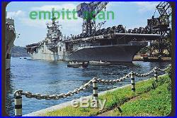 Original Slide, Navy Aircraft Carrier USS Princeton (CV-37) at Yokosuka, 1952