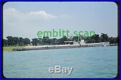 Original Slide, Navy Submarine USS Tambor (SS-198) on Detroit River, early 1950s