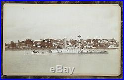 Original Us Navy Monitor Uss Monadnock Cabinet Photograph