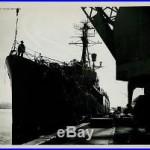 Original Vintage PhotoU. S. Navy Destroyer at dock 8x10