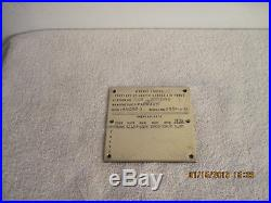Packard PT Boat Engine ID Plate 4-M 2500