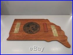 Piece Of Teakwood Salvaged From Main Deck Of U. S. S. Indiana Battleship BB-58