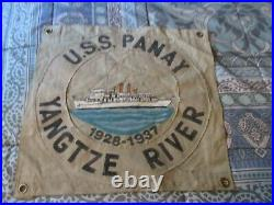 Pre Wwii Uss Panay Yangtze River China Gun Boat 1928-37 Ready Room Flag