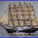 Preussen (Germany) 32 Long 24 Tall Wooden Ship Model. SailBoat, Nautical Decor