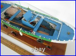 Pro Built Wooden Fishing Boat With Glass Display Case Highly Detailed Pick Up Only