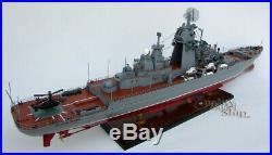 Pyotr Velikiy Russian Warship Handcrafted War Ship Display Model 39