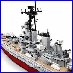 QXB WW2 USS Missouri BB-63 Battleship Model (33 inches 2631 Pieces) Expert Ship