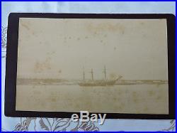 RARE 1889 US Navy Nipsic Boat Navy Real Photo SAMOA ISLAND BY J. SMITH, VALLJO, CAL