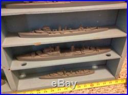 RARE ANTIQUE SET FRAMBURG BRITISH SHIP RECOGNITION MODELS 19 Ships
