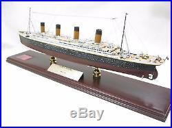 RMS Titanic Model Ship Desk Display Wood 1/350 White Star Ocean Liner ES Cruise