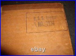 Rare 1953 Wood Submarine model USS Trigger Marine Model Co. Halesite NY