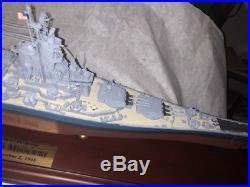 Rare BB-63 Battleship USS Missouri 1945 WWII Ship Boat! Danbury Mint! 1/500