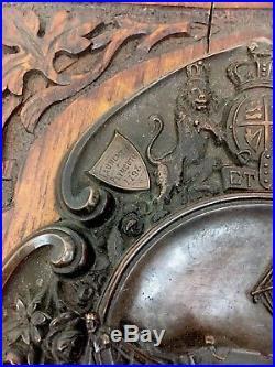 Rare Napoleonic Wars Era HMS Foudroyant British Navy Bronze Plaque Souvenir