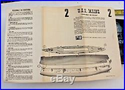 Rare Pyro USS Maine unassembled plastic model kit unknown scale 1/250