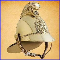 Replica British MERRYWEATHER Brass Fireman's Helmet