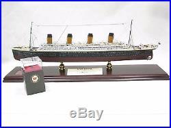 Rms Titanic 1/350 Signed By Milvina Dean Survivor White Star Boat Model