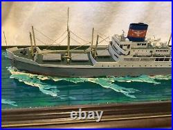 Ron Hughes 1600 WWII President Monroe Handmade Waterline Model Ship with Case