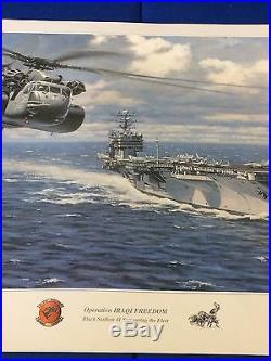 Ronald Wong Operation Iraqi Freedom Black Stallion Fleet Signed Limited Edition