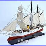 Russian Imperal Navy KORIETZ Gunboat 34 Handmade Wooden Boat Model