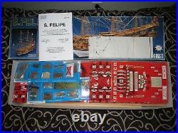 S. Felipe 1690 by Panart Wood Model Kit 1/75 scale
