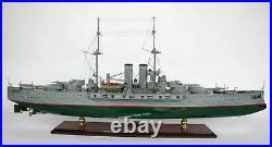 SMS Viribus Unitis Dreadnought Battleship Model 39 Handcrafted Wooden Model NEW