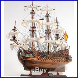 SPANISH SAN FELIPE DISPLAY SHIP Wood Model 37 Large Collectible Decor Gift New