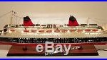 SS FRANCE SPECIAL EDITION 40 With LED Light Handcrafted Wooden Model NEW